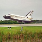 Space Shuttle Discovery Back on the Ground