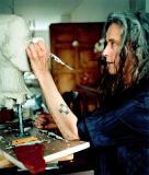Kik Smith at work in her Studio