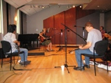 Eliza Gilkyson and her band in KUHF's Studio 3-C