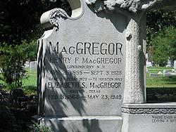MacGregor grave at Glenwood Cemetery