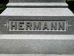 Hermann grave at Glenwood Cemetery