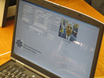 A look at the SORIS System in use on a laptop