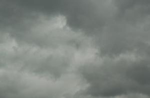 sky of a hurricane...intense clouds