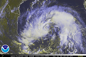 image of Tropical Storm Dolly as of 07-21-08