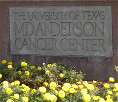 image of M.D. Anderson Cancer Center sign