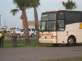 image of Hurricane Gustav evacuations by bus