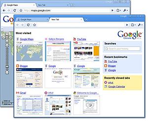 Google browser named chrome