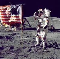 image of Gene Cernan as the last man on the moon