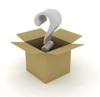 image of box of a question mark