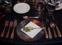 Place setting at the UH Hilton Gourmet Night