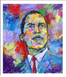 Obama 44th President signed by Ted Ellis