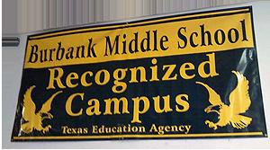 image of Burbank Middle School banner
