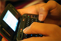 image of texting