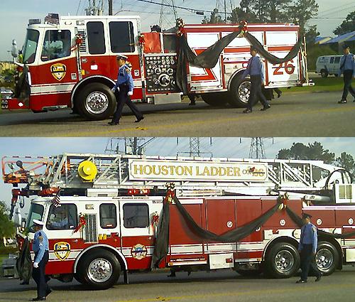 image of 2 firetrucks
