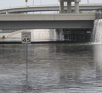 image of Houston highways flooding