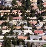 image of neighborhood roof tops