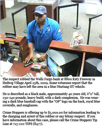 image of wellsfargo bank robber