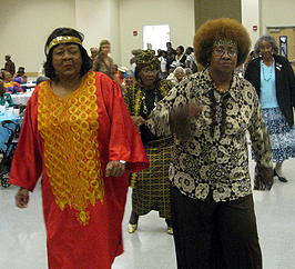 image of senior women at the prom