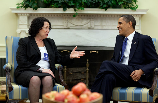 image of Barack Obama and Sonia Sotomayor