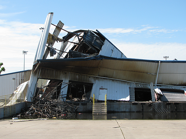 image of aftermath of Gallery Furniture's fire