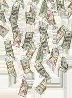 image of money falling