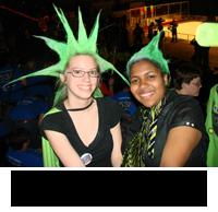 Rachel and fellow student Christina Sparks