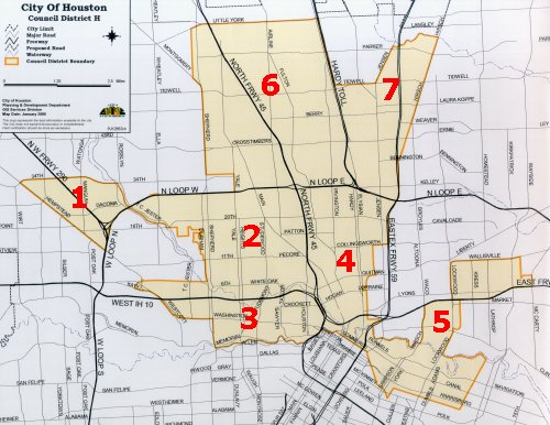 image of map of district h