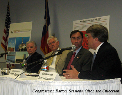 image of Congressmen Barton,Sessions,Olson and Culberson