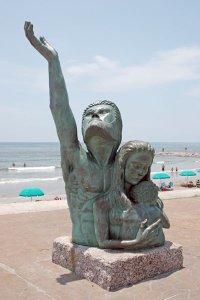 Statue commemorating the Galveston hurricane of 1900