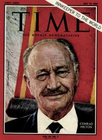 Conrad N. Hilton on the cover of Time Magazine