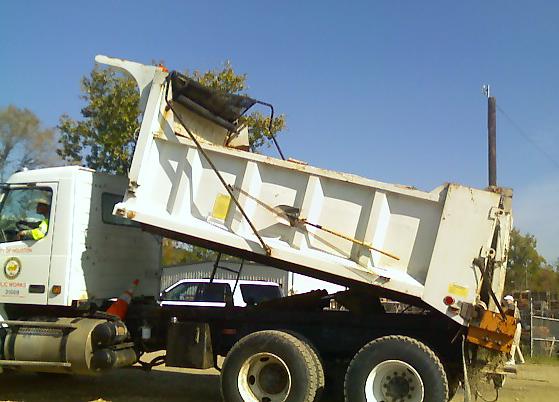 Public Works dump truck