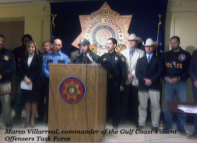 Marco Villarreal, commander of the Gulf Coast Violent Offensers Task Force