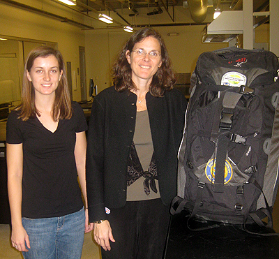 Jocelyn-Brown-Maria-Oden-with-Lab-in-a-Backpack