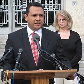 Ed Gonzales and Melissa Noriega