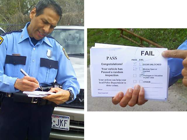 Officer Rick Trejo pass-fail checklist