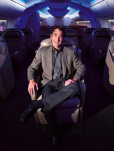 Price in Boeing Dreamliner cabin