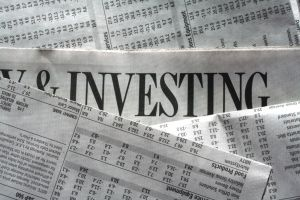 Investment portion of newspaper