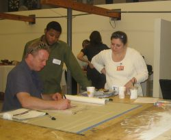 People working at the UH College of Architecture's Community Design Resource Center