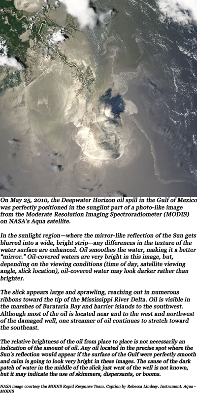 NOAA May 25th, 2010 image of oil spill