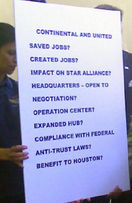 Shelia Jackson Lee chart on merger questions