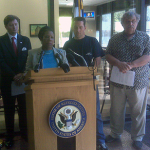 Houston Democratic congresswoman Sheila Jackson Lee says she's not convinced the proposed merger between Continental and United Airlines will benefit the American people. She's written to the Attorney General and the Chairman of the House Judiciary Committee to review the agreement. Pat Hernandez has the story.
