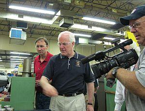 Sen. John Cornyn (R-TX) and Rep. Pete Olson (R-Sugarland) visit Sunbelt Machine Works in Stafford
