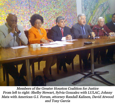 Picture is of members of the Greater Houston Coalition for Justice