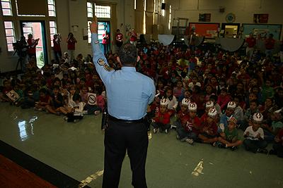 HPD officer speaking
