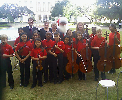 students from HISD's Parker Elementary, called Parker Performing Strings
