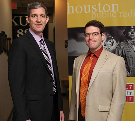 Marty Durbin and KUHF's Andrew Schneider