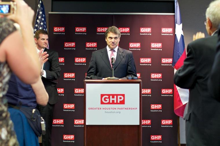 Rick Perry speaking in Houston