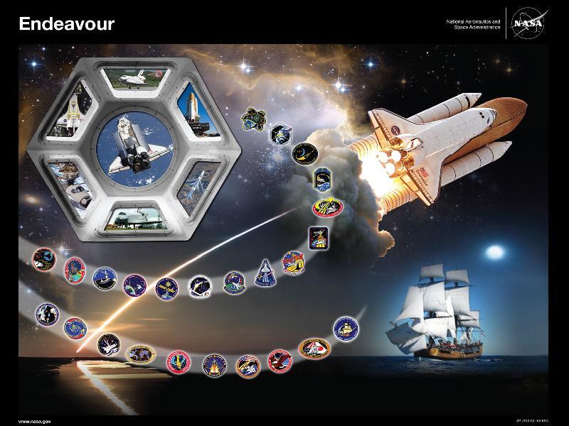 Endeavour tibute poster