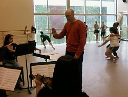 Rob Smith directing the UH Dance Ensemble