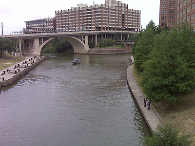 Buffalo Bayou after cleaning by Harris County jail inmates